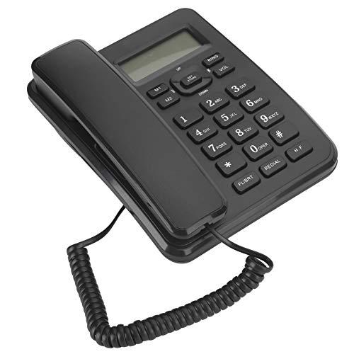 CCYLEZ Teléfonos fijos fijos, teléfono con Cable de Montaje en Pared, teléfono de Escritorio, Sistema de Soporte DTMF y FSK, 16 Tonos de Llamada, Adecuado para la decoración del hogar