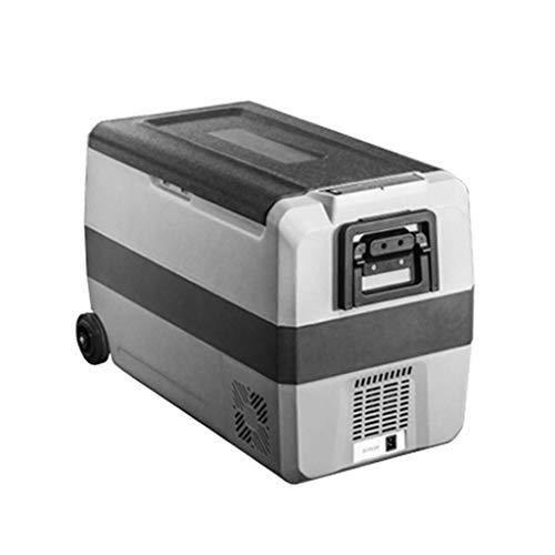 TUNBG Portatile per Auto e Uso Domestico Compressore Frigorifero con Ruote e Manico, Mini congelatore per Guida, Viaggi, Pesca, Uso Esterno e Domestic
