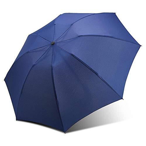 Sonnenschirm Regenschirm Beschichtung Regenschirm Mode Farbe Regenschirm Regen Frauen 3 Falten Sunny Automatic Car Men Regenschirme Blau