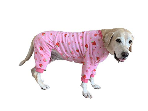 BT Bear Hunde-Schlafanzug, warm, Fleece, schützt Gelenke, Anti-Haar, vierbeinig, für Labrador, Golden Retriever, Schäferhund
