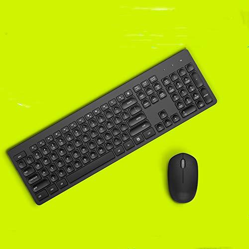 LAJICEF Drahtlose Tastatur-Maus-Set Office Business Notebook Desktop-Computer Mute Gaming Keyboardsuitable für Spieler und Typists