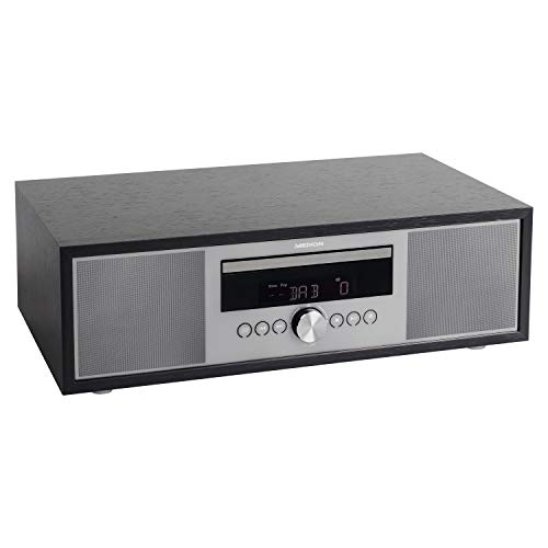 MEDION P64145 All in One Audio System (DAB+, CD, MP3, PLL UKW Radio, USB, Kompaktanlage, Elegantes Design, Weckfunktion, Sleep Einschlafautomatik)