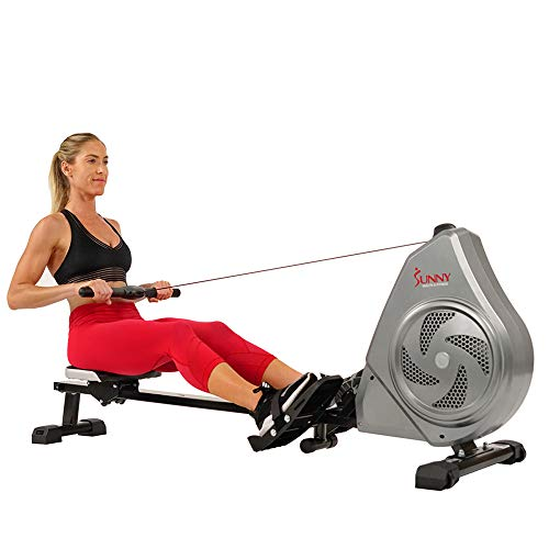 Sunny Health & Fitness Air Magnetic Rowing Machine Rower, LCD Monitor with Tablet Holder - SF-RW5728 … (SF-RW5728)