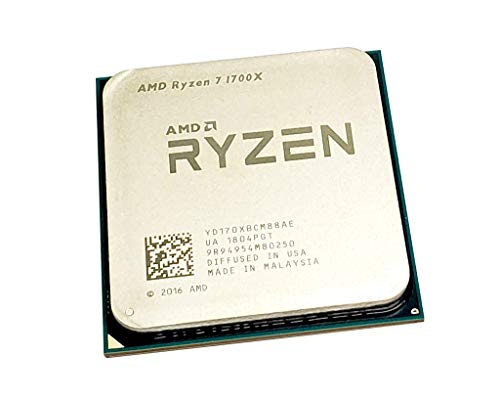 AMD Ryzen 7 1700X 3.4 GHz Eight-Core OEM CPU YD170XBCM88AE Socket AM4