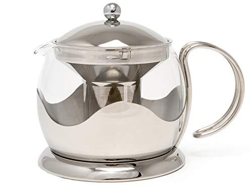 Dobbies Teekanne großen Edelstahl und Glas Le Teapot von La Cafetiere