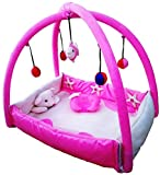 Nagar International Baby Luxury and High Quality Bassinet & Cradle Bedding Set in Large Size (Polyester Pink, 0-12 Months)