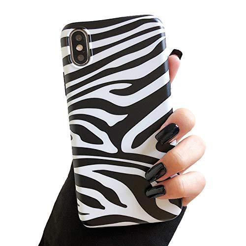 ZTOFERA caso para iPhone XR, linda cebra impresión suave TPU caso, ultra delgado gel silicona protector parachoques cubierta para iPhone XR - blanco