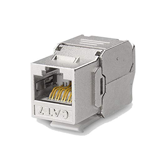 tellaLuna RJ45 Cat7 Cat6A blindado FTP aleación de zinc módulo 10GB red Jack conector Cat7 Rj45