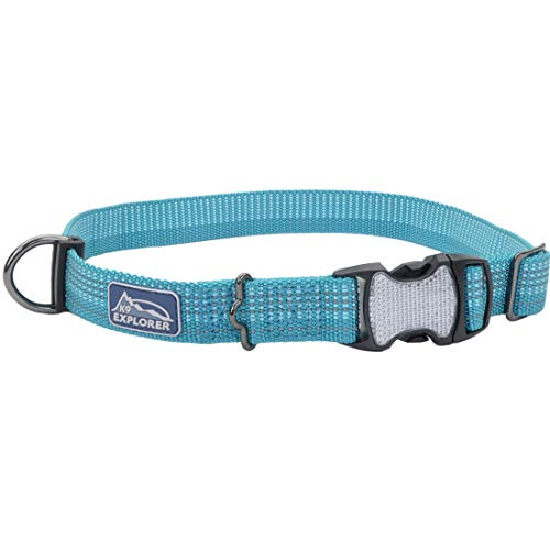 Coastal - K-9 Explorer - Brights Reflective Adjustable Dog Collar, Ocean, 1' x 18'-26'
