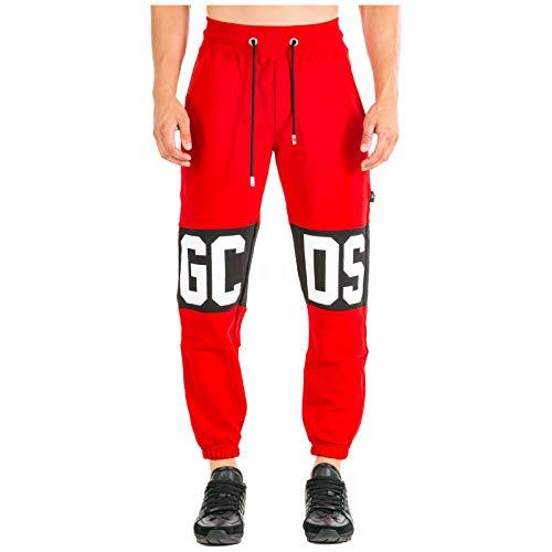 GCDS Hombre Pantalones Deportivos Rosso
