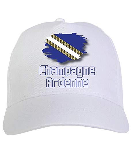 Typolitografie Ghisleri cap wit champagne Ardennes Frankrijk vlag klittenbandsluiting 72