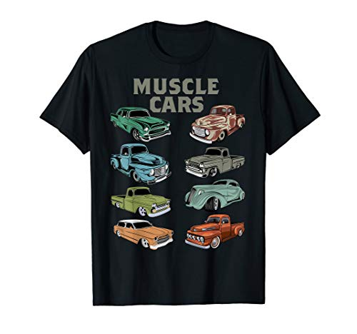 American Muscle Old Rat Car Speed Cars Racing Driver Tee T-Shirt