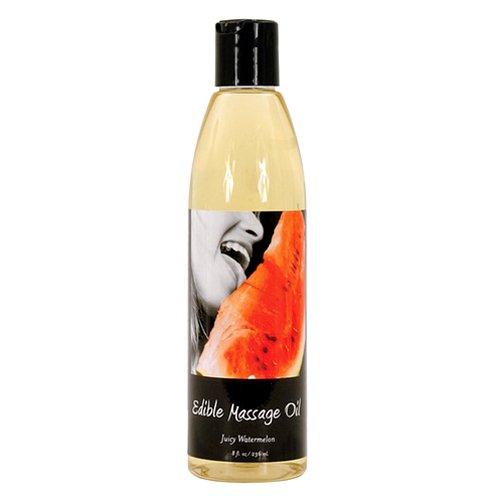 Earthly Body köstliches ableckbares/essbares Massageöl Vanille, Erdbeer, Wassermelone oder Kirsche 236ml (Wassermelone/Juicy Watermelon)