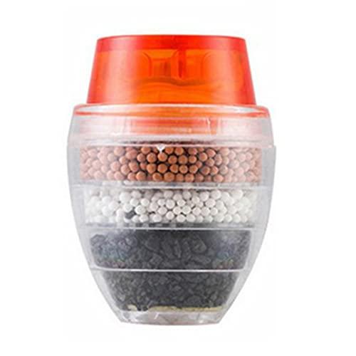 Timetided Filtro de grifo de cocina universal Purificador de agua de grifo portátil Filtro de agua multicapa de carbón activado para el hogar