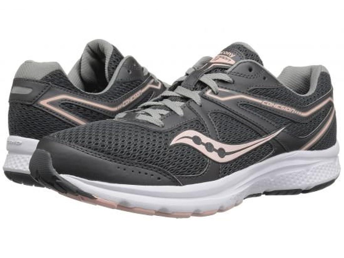パラダイス汚す評判Saucony(サッカニー) レディース 女性用 シューズ 靴 スニーカー 運動靴 Cohesion 11 - Charcoal/Peach [並行輸入品]
