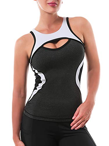 Womens Yoga Tops Activewear Workout Shirts Sports...