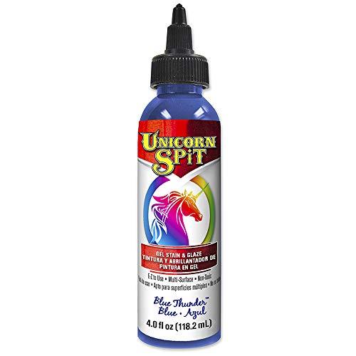 Unicorn SPiT 5770008 Gel Stain and Glaze, Blue Thunder 4.0 FL OZ Bottle, 1