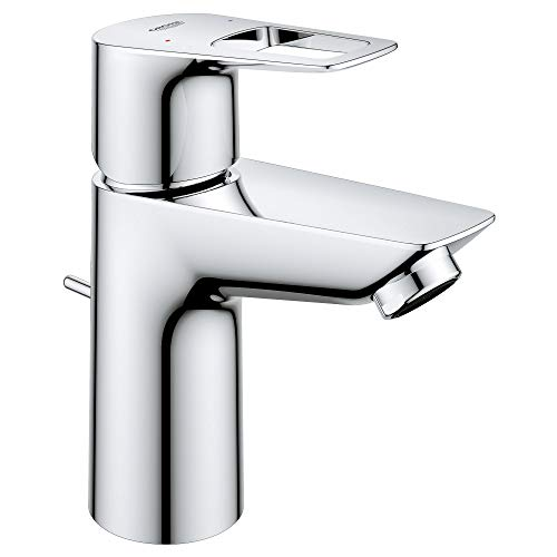 GROHE 23084001 Bauloop Hole Single-Handle S-Size Bathroom Faucet 1.2 GPM, Small, Starlight Chrome
