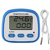 BWCGA Nevera termómetro del congelador de alta a baja temperatura Configuración de alarmas con LED indicador digital de Refrigeración Magnética con termómetro