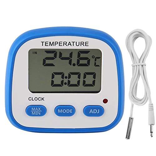 BWCGA Frigo congelatore Termometro Alta bassa temperatura Impostazioni allarmi con indicatore LED digitale di refrigerazione Termometro con magnetico