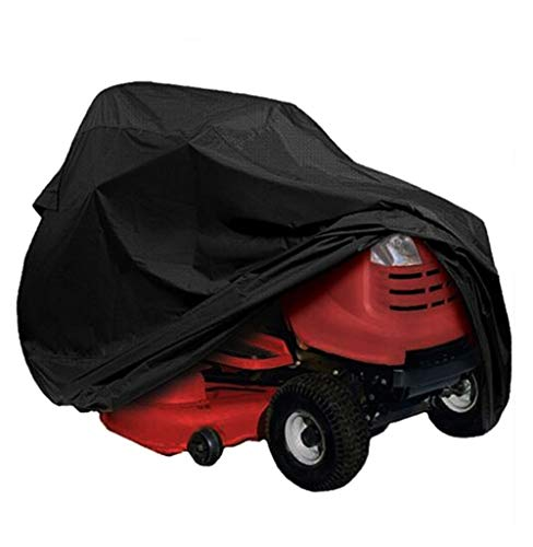 ANHPI--tarpaulins Outdoor Garden Lawn Mower Cover Lawn Tractor Covers Heavy Duty Waterproof Oxford Cloth Anti-UV Protector Durable 210D Dust-Proof (Color : Black, Size : 177 * 110 * 110cm)