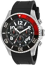Invicta Men's Pro Diver 48mm Stainless Steel and Polyurethane Chronograph Quartz Watch, Black (Model: 15145)