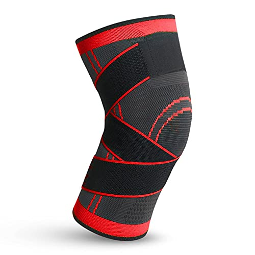 N\C Sports Compression Knitted Knee Pads Running Cycling Basketball Breathable Straps Kneepad Outdoor Fitness Climbing Kneecap