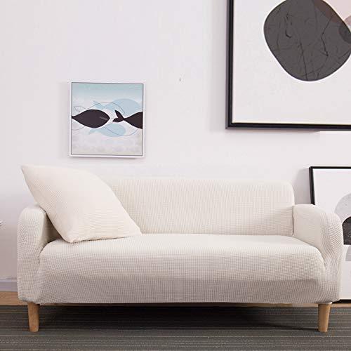 NOBCE Anti-Dirty Sofa Cover L-Shaped Living Room Sofa Cover Stretch Sofa Cover White 235-300CM