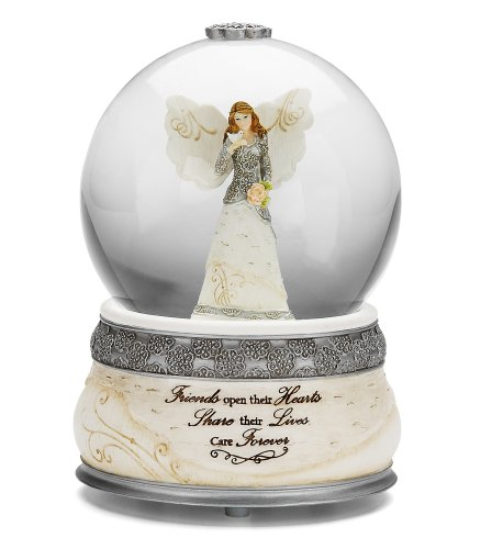 Pavilion Gift Company Elements Friends Angel Musical Waterglobe, 6-Inch/100mm, Inscription Friends Open Their Hearts Share Their Lives, Care Forever