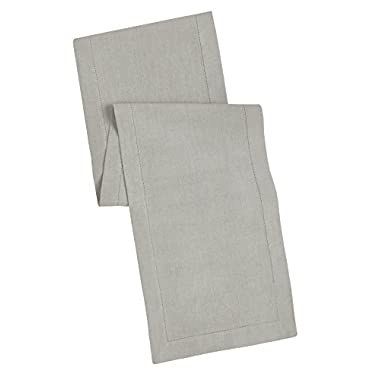 100% Linen Hemstitch Table Runner - Size 16x108 Charcoal - Hand Crafted and Hand Stitched Table Runner with Hemstitch detailing. The pure Linen fabric works well in both casual and formal settings