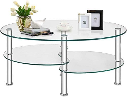 Top 10 Best oval glass coffee table Reviews