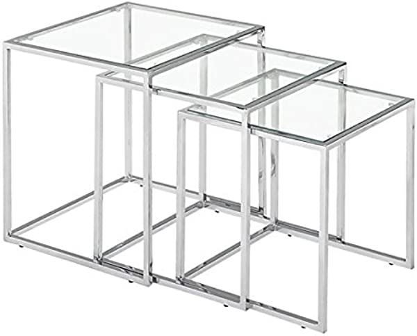 Zuo Pasos Nesting Table Chrome