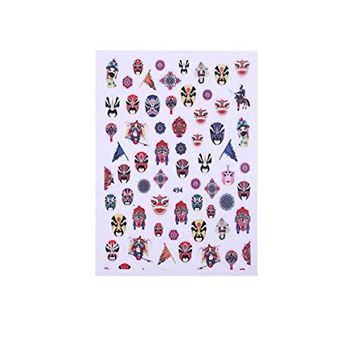 Youdong Nouveau Nail Jewelry Nail Sticker Vent Antique Imperméable Applique Nail Patch,Nail Art Glitter Mixte 3D Paillettes Designs Manucure Décorations DIY Stickers,Manucure Outils