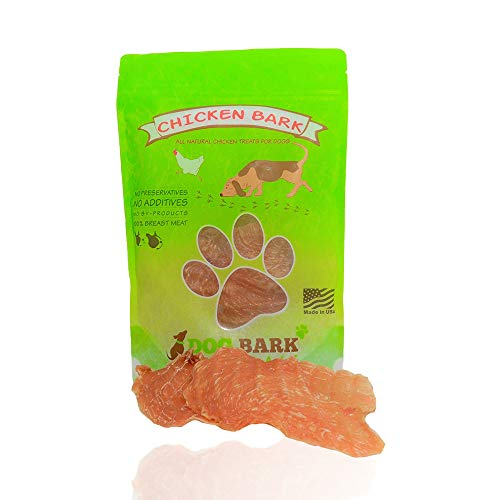 Dog Bark Naturals Chicken Bark - All Natural Chicken Jerky Dog and Puppy Treats, No fillers, Responsibly Sourced and Made in the USA