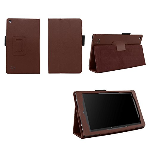 Elsse Folio Case with Stand for Kindle Fire 7 - Brown