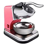 Doble Smoothies cortador de hielo cortador de hielo, máquina quitanieves, acero inoxidable de alta potencia, para uso comercial en el hogar