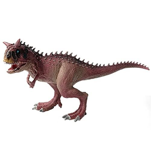 JOKFEICE Dinosauro Giocattolo Realistico Carnotaurus Figure di Animali Progetto di Scienza, Cake Topper, Primi Giocattoli Educativi di Compleanno Regalo di Natale per I Bambini I Bambini di età 3 4 5