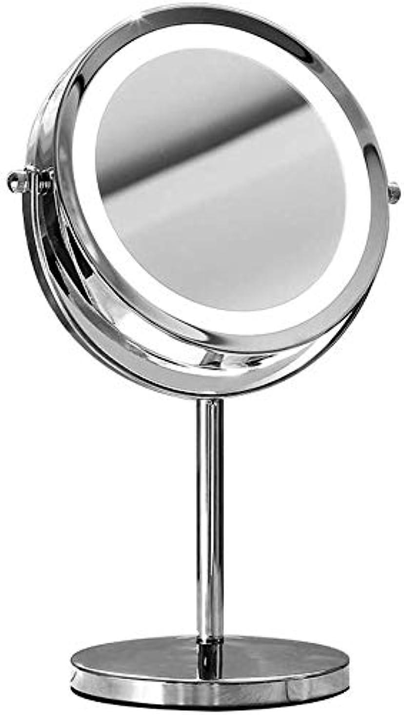 引き出し宇宙のコモランマCXMHZJ 両面化粧鏡を備えた光と3X卓上ミラー、照明付き化粧鏡、ポータブル高精細化粧ライトアップアップミラー H4Z0J2