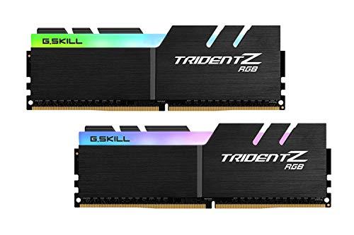 G.Skill Trident Z RGB Series 32GB (2 x 16GB) 288-Pin SDRAM DDR4 4000 (PC4-32000) CL18-22-22-42 1.40V Dual Channel Desktop Memory Model F4-4000C18D-32GTZR