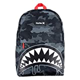 Hurley Boys' One and Only Backpack, Grey Camo Shark, L
