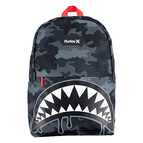 Hurley Kids' One and Only Backpack, Grey Camo Shark, Large
