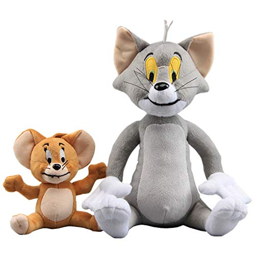 uiuoutoy Tom and Jerry Plush Mouse & Cat Toys Set of 2 pcs