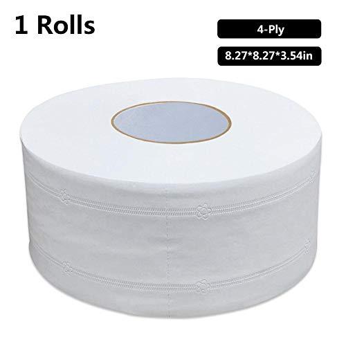 Sponsi Grande rotolo di carta igienica, carta per la casa di grandi dimensioni Morbido non irritante, tessuto per bagno domestico Dispenser a 4 strati Asciugamano per ristoranti Alberghi