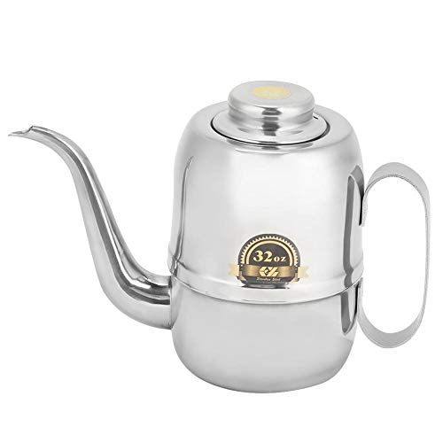 Distributeur d'huile d'olive, pot d'huile en acier inoxydable peut bouteille de vinaigre assaisonnement récipient de stockage de distributeur d'huile pour la maison restaurant cuisine(32oz)