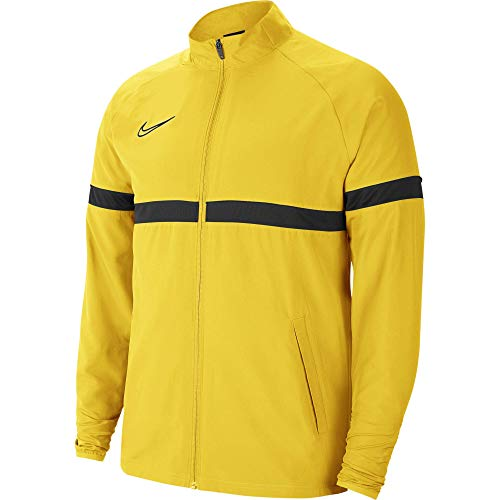 NIKE Dri-FIT Academy Chaqueta Deportiva, Tour Yellow/Black/Anthracite/Black, L para Hombre