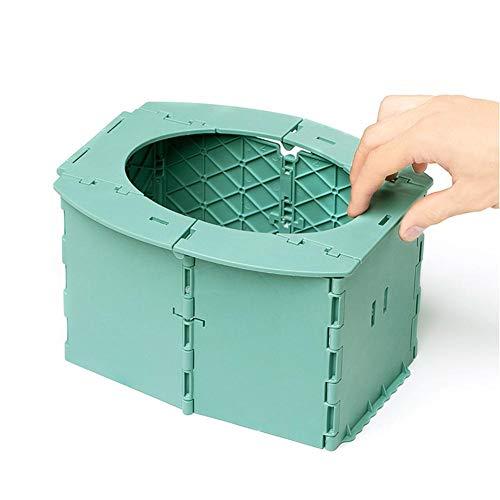 Toilette per Bambini Portatile, Comò Pieghevole Sedile per WC Vasino per Auto Vaschetta Lavabile Robusto Compatto WC per Campeggio Escursionismo Viaggi Lunghi Ingorgo Stradale per Bambini