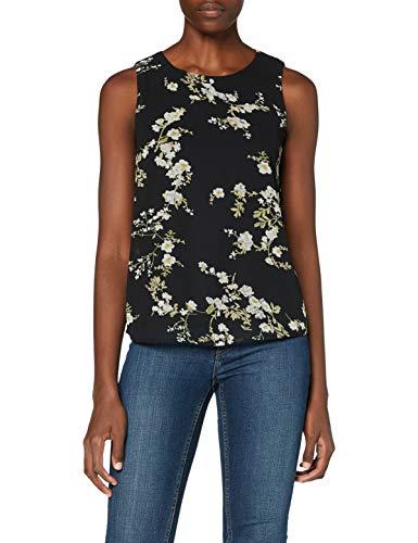 ONLY Damen ONLALYSSA S/L WVN Top, Black/AOP:W. SMALL Flowers, 38