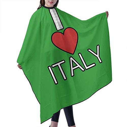 I Love Italy Peluquería Capes Poliéster Corte de Pelo Delantal Cabo Corte de Cabello Para Estilo Corte Peluquería Peluquería, 55 pulgadas X 66 pulgadas Multicolor