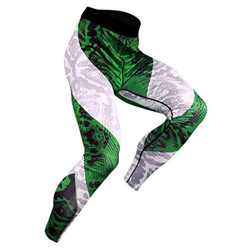 SINGOing Tights-Lang für Laufen Wandern Radfahren,Herren Fitness Hose Pro Cool Kompressionshose Pants Atmungsaktiv Unterhose Laufhose für Männer