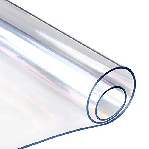 HYCH-1,6 mm de espesorAlfombrilla Protectora For Suelo, Piso De Madera Resistente A Los Arañazos PVC TransparenteInsípido Alfombrilla MultifuncionalAlmohadilla protectora,1.6mm,50x90cm